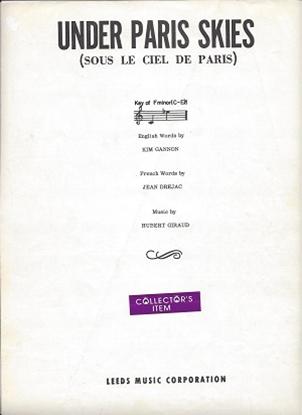 Picture of Under Paris Skies, (Sous Le Ciel De Paris), Kim Gannon/ Jean Drejac/ Hubert Giraud