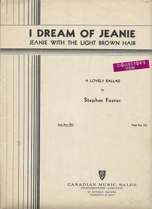 Picture of I Dream Of Jeanie, Stephen C. Foster, low voice solo