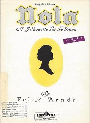 Picture of Nola, Felix Arndt, piano solo