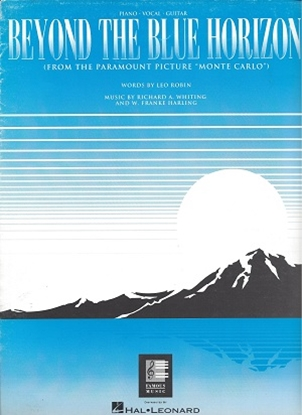 Picture of Beyond The Blue Horizon by Leo Robin, Richard A. Whiting, W. Fanke Harling