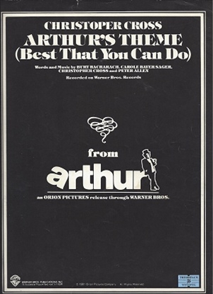 Picture of Arthur's Theme (Best That You Can Do), Burt Bacharach/ Carole Bayer/ Christopher Cross/ Peter Allen