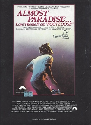 """Picture of Almost Paradise, from """"Footloose"""", Eric Carmen & Dean Pitchford, recorded by Mike Reno (Loverboy) & Ann Wilson (Heart)"""