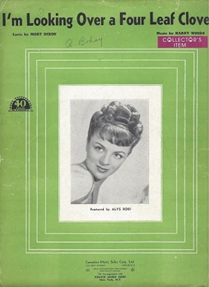 Picture of I`m Looking Over a Four Leaf Clover, Mort Dixon & Harry Woods, sheet music