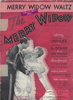 Picture of Merry Widow Waltz, movie title song, Franz Lehar with revised lyrics by Lorenz Hart