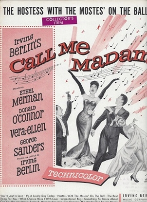 Picture of The Hostess With The Mostes' On The Ball, from Call Me Madam, Irving Berlin