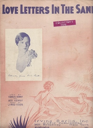 Picture of Love Letters In The Sand, J. Fred Coots/ Nick & Charles Kenny