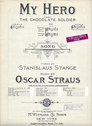 """Picture of My Hero, from """"The Chocolate Soldier"""", Stanislaus Stange & Oscar Straus, high voice solo"""