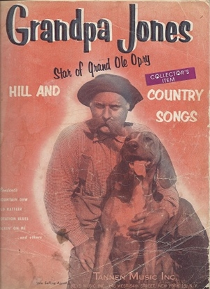 Picture of Grandpa Jones, Hill and Country Songs, songbook