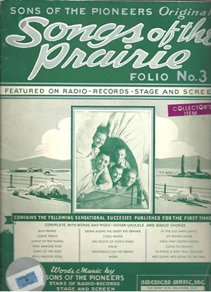 Picture of Songs of the Prairie Folio #3, Sons of the Pioneers