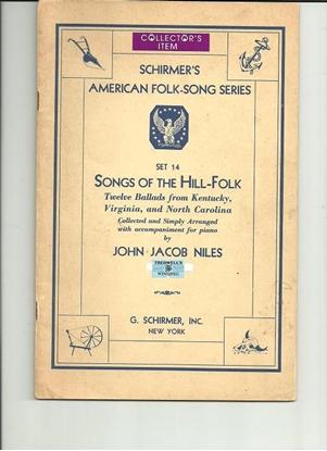 Picture of Schirmer's American Folk-Song Series Set 14, Songs of the Hill-Folk, John Jacob Niles