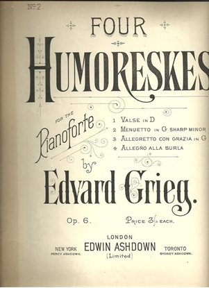 Picture of Four Humoreskes Op. 6, Edvard Grieg, piano solo sheet music