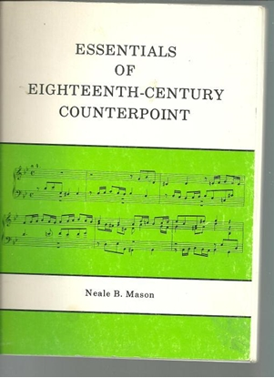 Picture of Essentials of Eighteenth-Century Counterpoint, Neale B. Mason, music textbook
