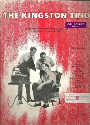Picture of The Kingston Trio, self-titled songbook