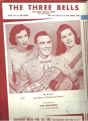 Picture of The Three Bells (The Jimmy Brown Song), Jean Villard (Gilles), recorded by The Browns