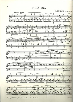 Picture of Sonatina Op. 88 #2, Friedrich Kuhlau, piano solo