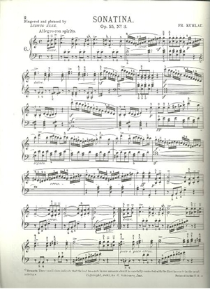 Picture of Sonatina Op. 55 #3, Friedrich Kuhlau, piano solo