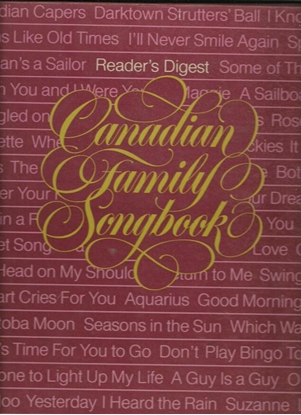 Picture of Reader's Digest Canadian Family Songbook