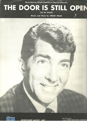 Picture of The Door is Still Open(To My Heart), Dean Martin, by Chuck Willis, sheet music