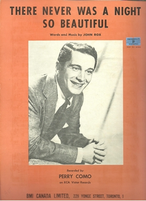 Picture of There Never Was A Night So Beautiful, John Rox, recorded by Perry Como