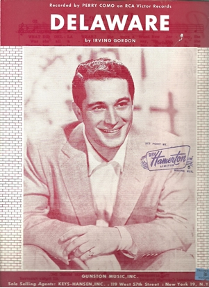 Picture of Delaware, Irving Gordon, recorded by Perry Como