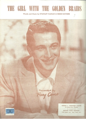 Picture of The Girl With The Golden Braids, Stanley Kahan and Eddie Snyder, recorded by Perry Como