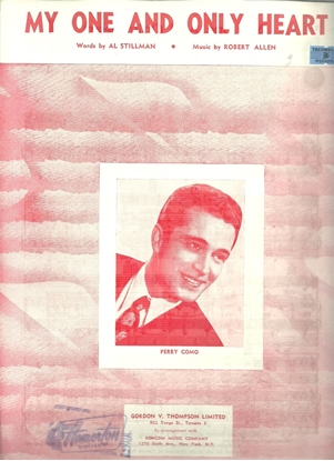 Picture of My One And Only Heart, Al Stillman & Robert Allen, recorded by Perry Como