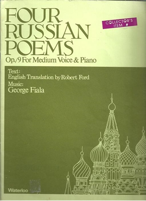 Picture of Four Russian Poems Opus 9, George Fiala, medium voice