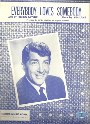 Picture of Everybody Loves Somebody, Irving Taylor & Ken Lane, recorded by Dean Martin