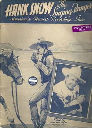 Picture of Hank Snow, The Singing Ranger, songbook