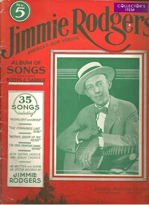 Picture of Jimmie Rodgers, America's Blue Yodeler Songbook #5