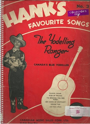 Picture of Hank Snow, Hank's Favourite Songs #3, The Yodelling(Yodeling) Ranger, songbook