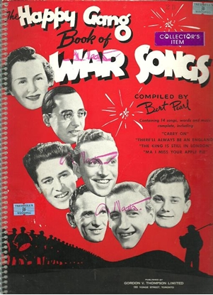Picture of The Happy Gang Book of War Songs, compiled by  Bert Pearl