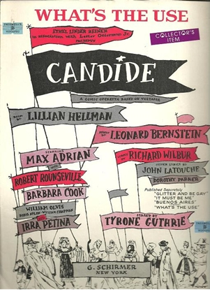"""Picture of What's the Use, Leonard Bernstein & Richard Wilbur, from """"Candide"""""""