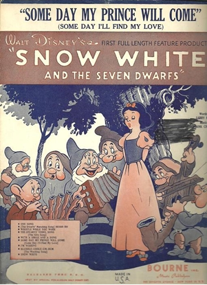 """Picture of Someday My Prince Will Come, from Disney's """"Snow White"""", L. Morey & F. Churchill"""