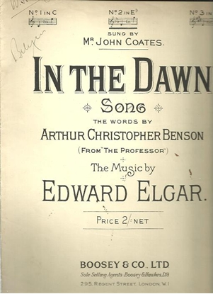 Picture of In the Dawn, Edward Elgar, vocal solo