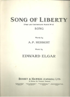 Picture of Song of Liberty, A. P. Herbert & Edward Elgar, medium voice solo