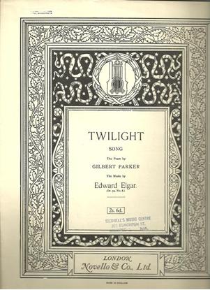 Picture of Twilight, Edward Elgar, medium vocal solo