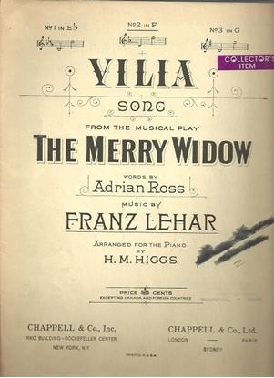 Picture of Vilia, Franz Lehar, vocal solo