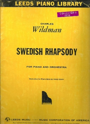 Picture of Swedish Rhapsody(Complete), Charles Wildman, arr. Henry Geehl, piano solo