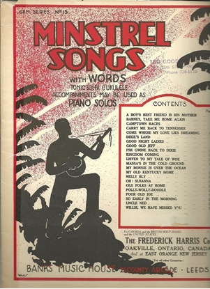Picture of Minstrel Songs, songbook
