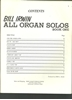 Picture of Bill Irwin, All Organ Solos Book One