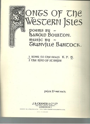 Picture of Song to the Seals, Harold Boulton & Granville Bantock, low voice solo