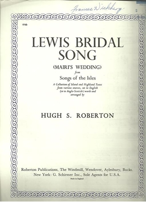 Picture of Lewis Bridal Song, Mairi's Wedding, from Songs of the Isles, Hugh S. Roberton