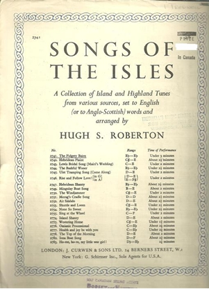 Picture of The Fidgety Bairn, from Songs of the Isles, Hugh S. Roberton
