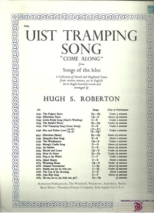Picture of Uist Tramping Song, Come Along, from Songs of the Isles, Hugh S. Roberton