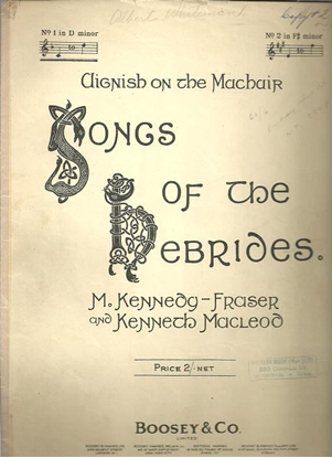 """Picture of Aignish on the Machair, from """"Songs of the Hebrides"""", M. Kennedy-Fraser, low voice solo"""