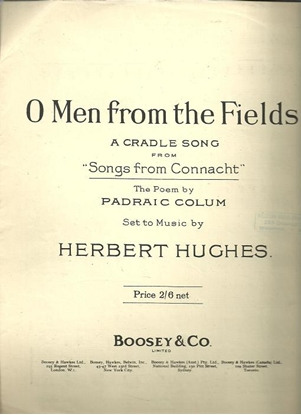 Picture of O Men from the Fields, Herbert Hughes, Irish Country Songs, vocal solo