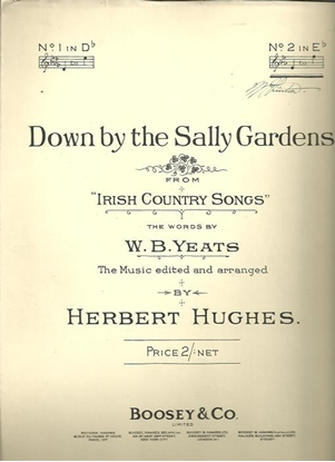 """Picture of Down By the Sally Gardens, from """"Irish Country Songs"""", Herbert Hughes, high voice solo"""
