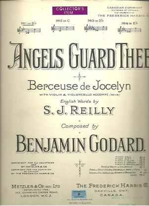 Picture of Angels Guard Thee, Berceuse de Jocelyn, Benjamin Godard, low voice solo
