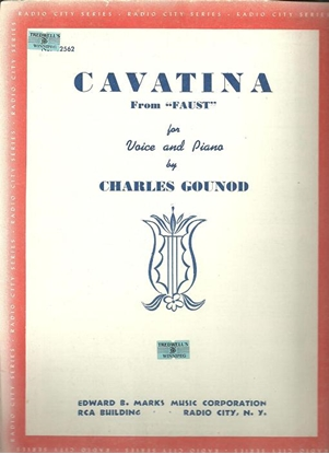 """Picture of Cavatina, from opera """"Faust"""", Charles Gounod, vocal solo"""